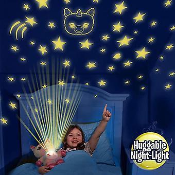 Little Bear Projector Night Light, Kids Stuffed Animal Plush Toy, Children Gifts