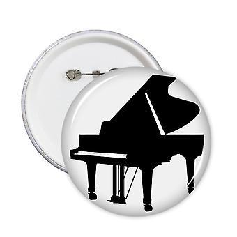 פסנתר קלאסי כלי נגינה תבנית סיכות עגולה תג