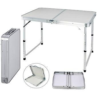 Folding Camping Table Picnic Portable Adjustable Party Bbq Computer Desk