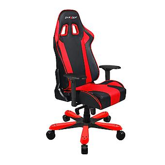 DX Racer DXRacer OH/KS06/NR High-Back Chairs Office Chair Carbon Look Vinyl+PU Desk Chair(Black/Red)
