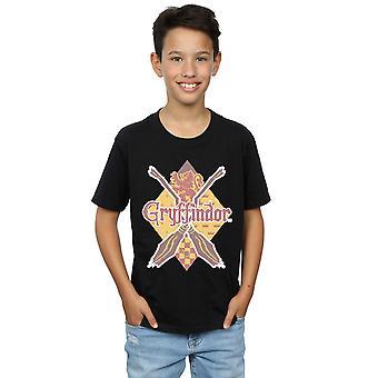 Harry Potter Gryffindor Raute T-Shirt Boys