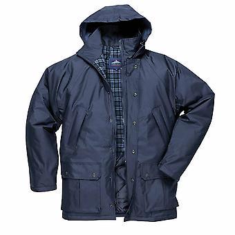 Portwest - Dundee brossé coton Tartan rayé veste imperméable avec capuche