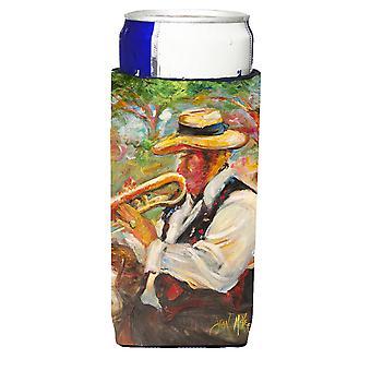 Aisladores de bebida Ultra de trompeta jazz para latas de slim