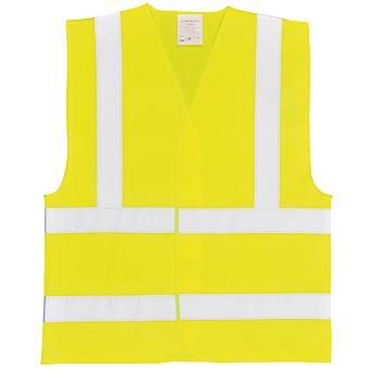 Portwest Unisex Hi-Vis Two Band & Brace Vest (C470) / Workwear / Safetywear