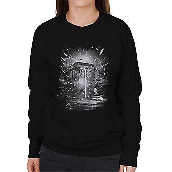 Temps de Doctor Who et vaisseau spatial féminin Sweatshirt