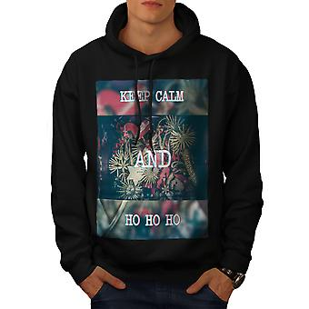 Keep Calm Gift Men BlackHoodie | Wellcoda