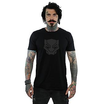 Marvel Men ' s Black Panther čierna na čierne tričko