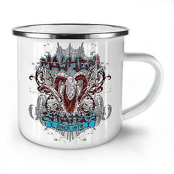 Mayhem Strategy Vintage NEW WhiteTea Coffee Enamel Mug10 oz | Wellcoda