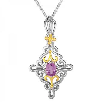 Shipton and Co Ladies Shipton And Co Silver And Spinel Pendant Including A 16 Silver Chain PQF013SL
