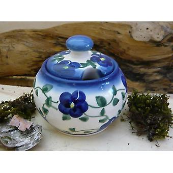 Sugar Bowl / jam jar, 2nd choice, 9 cm high, 180 g, unique - polska pottery - BSN 20877