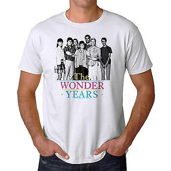 The Wonder Years Simple Cast Men's White T-shirt