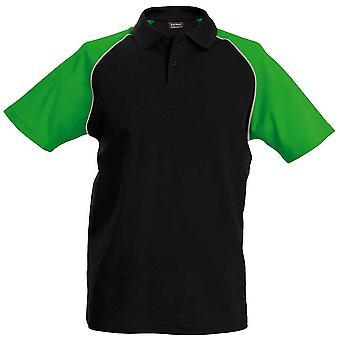Kariban Baseball Mens Polo Shirt