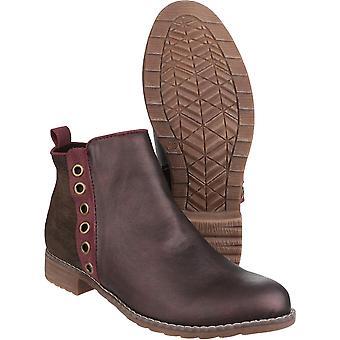 Divaz das mulheres/senhoras Demi PU dentro Zip leve Ankle Boots