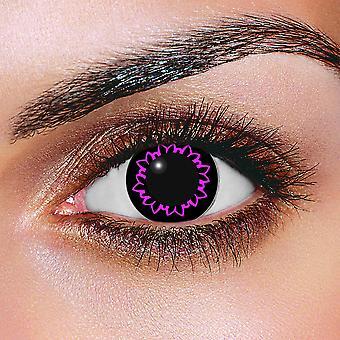 Iso silmä Butterfly violetti piilolinssit (pari)