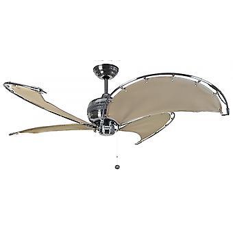 Ventilateur de plafond marron Spinnaker avec pull cord 102 cm/40