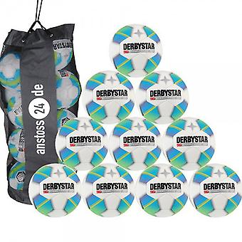 10 x DERBY STAR youth ball - STRATOS PRO LIGHT includes ball sack