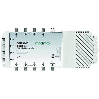 AXING SPU 58-05 SAT Multischalter Eingänge (Multischalter): 5 (4 SAT/1 Terrestrial) Nr. Mindestteilnehmerzahl pro Kurs: 8 Quad LNB kompatibel