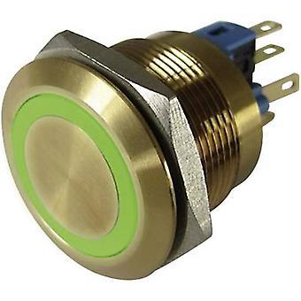 TRU-Komponenten GQ22-11E/G/12V/G Tamper-Proof Drucktaster 250 V AC 3 1 x Off/(On) IP65 momentane 1 PC
