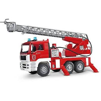 Brother MAN fire brigade with turntable ladder and Light & Sound Module 2771