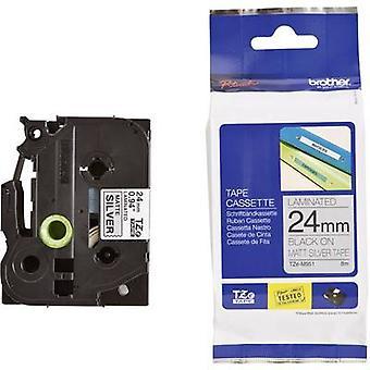 Merking tape (matt) bror TZe, TZ TZe-M31 Tape farge: gjennomsiktig (matt) Font farge: svart 12 mm 8 m
