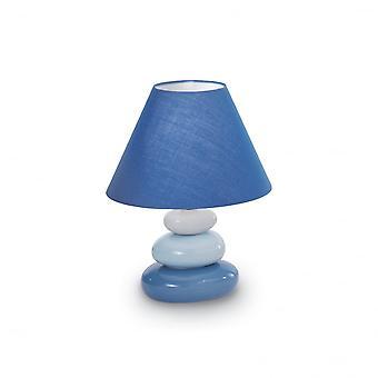 Ihanteellinen Lux sininen pikkukivi tyyli yöpöytälamppu