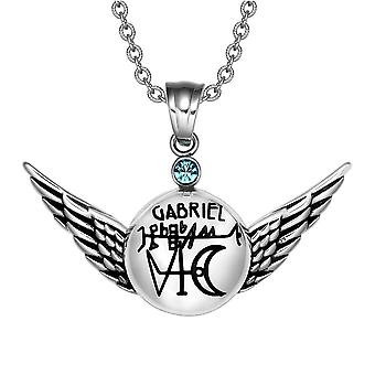 Maaginen eksponentti arkkienkeli Gabriel Sigil Angel Wings Amulet riipus kaulakoru