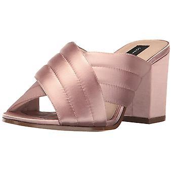 STEVEN by Steve Madden Womens Zada Leather Open Toe Casual Slide Sandals
