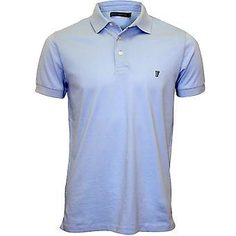 Französische Verbindung klassischen Jersey Polo-Shirt, Cashmere blau