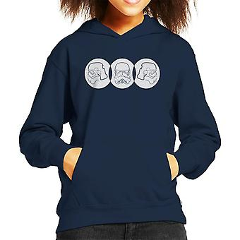 Original Stormtrooper Line Art Trio Kid's Hooded Sweatshirt