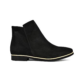 Liberitae booties booty thin suede black 21803337-01