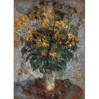 Jerusalem Artichoke Flowers,Claude Monet,60x40cm