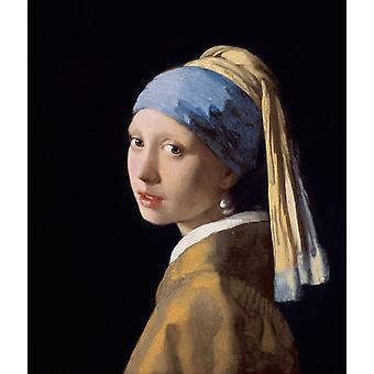 Jente med en perleøredobb er, Johannes Vermeer, 46,5 x40cm