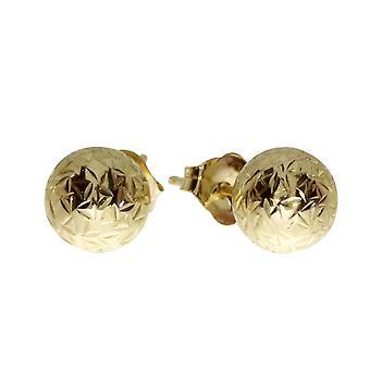 LXR 14k keltainen kulta 6mm pallo pistoke korvakorut