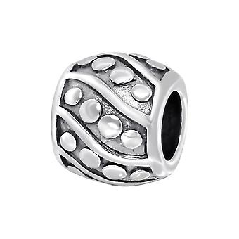 Runde - 925 Sterling Silber Plain Beads - W11108X
