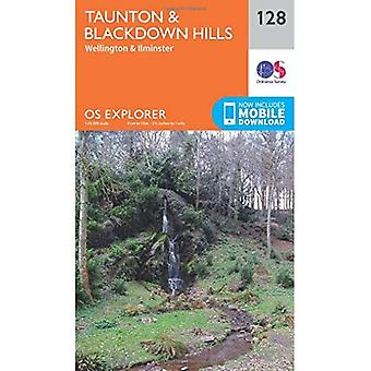 OS Explorer Map (128) Taunton i Blackdown Hills