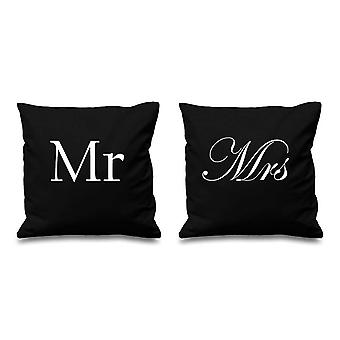 Mr and Mrs Black Cushion Covers 16