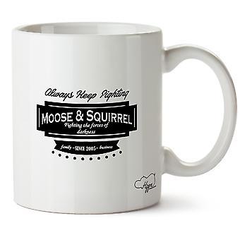 Hippowarehouse hirvi & orava Family Business koska 2005 painettu muki Cup keraaminen 10oz