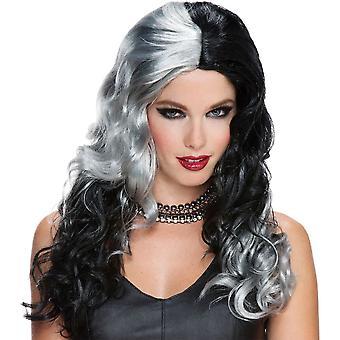 Parrucca strega grigio nero