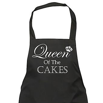 Queen Of The Cakes Black Apron