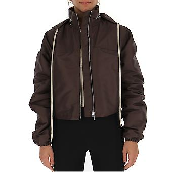 Rick Owens Rp18f4716cvt44 Women's Brown Polyester Outerwear Jacket