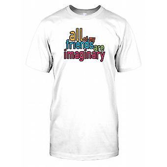 Tous mes amis sont imaginaires - Plaisanterie drôle Hommes T-shirt