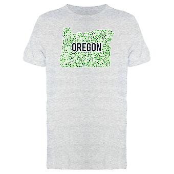 Oregon Dotted Map Ts Tee Men's -Image by Shutterstock