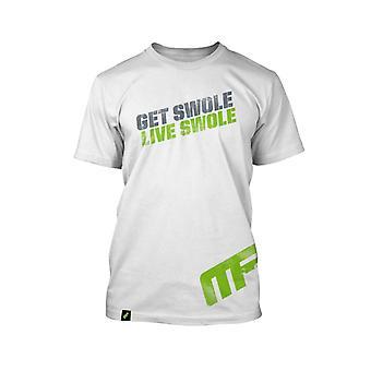 MusclePharm Mens MP Get Swole Live Swole Performance T-Shirt - White