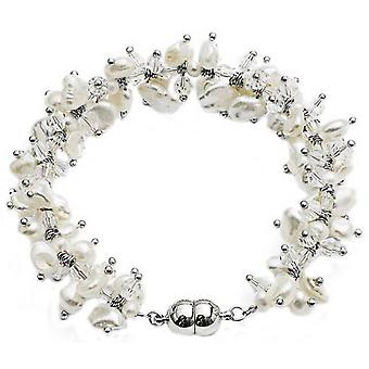 Pearls of the Orient Keishi Pearl and Crystal Bracelet - White