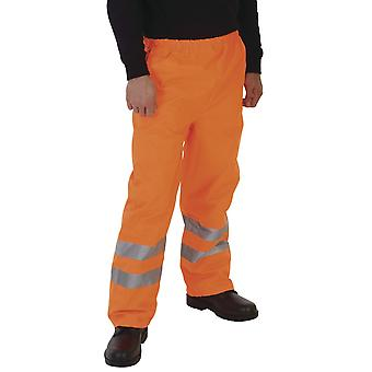 Grafters Unisex Safety Hi-Visibility Waterproof Over Trousers