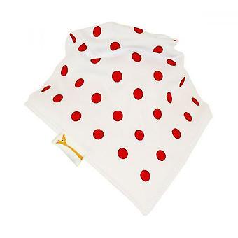 Weiße & rote Flecken Bandana Lätzchen