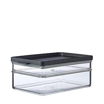 Mepal Omnia Breakfast Duo Layer Storage Box, Nordic Black