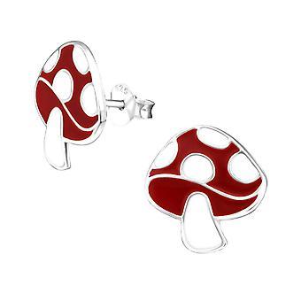 Children's Sterling Silver Toadstool Stud Earrings