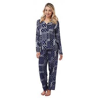 Camille Camille mulheres impresso viscose pijama sets