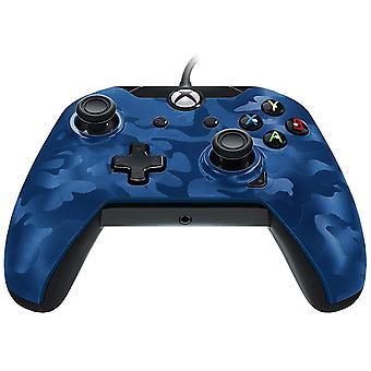 PDP bedrade controller voor Xbox One-Blue Camo